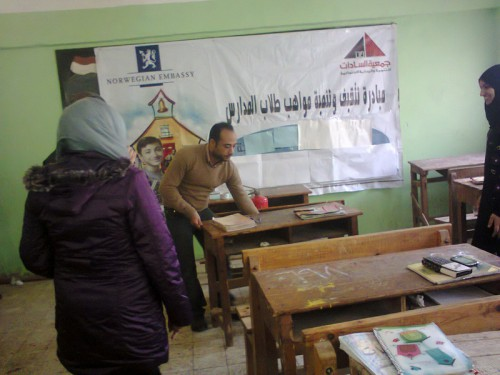 Construction safety workshop in vocational school for girls