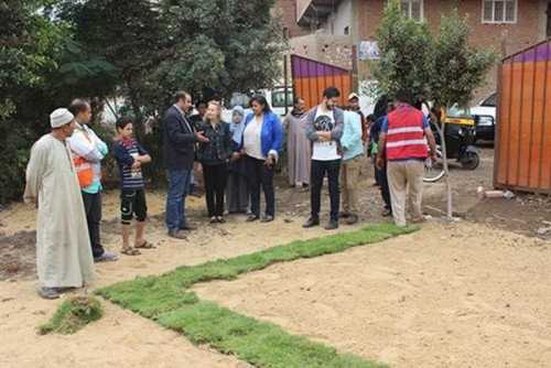 Initiative to develop and beautify the grounds. Children in the village of Kafr tabloha