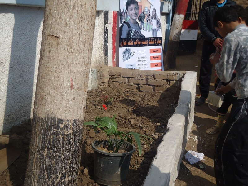 Tree planting activity in Tokh Dalaka school
